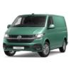 green vw campervan